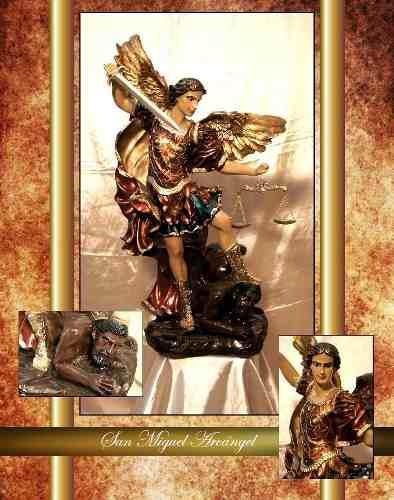 San Miguel Arcangel 1.10m. Pintado Al Oleo