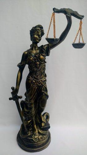 Scultura Diosa De La Justicia Color Oro Viejo De 46cm