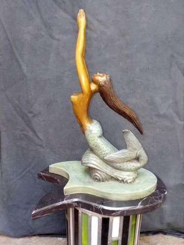 Sirena En Bronce