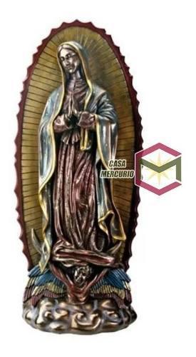 Virgen De Guadalupe Acabado En Bronce De 40cm