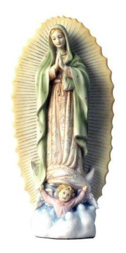Virgen De Guadalupe En Alabastro De 24cm De Alto