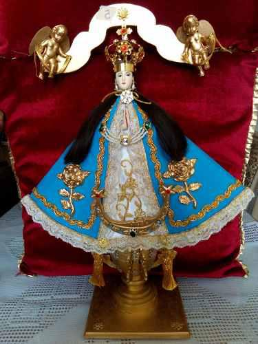 Virgen De San Juan De Madera Y Vestida