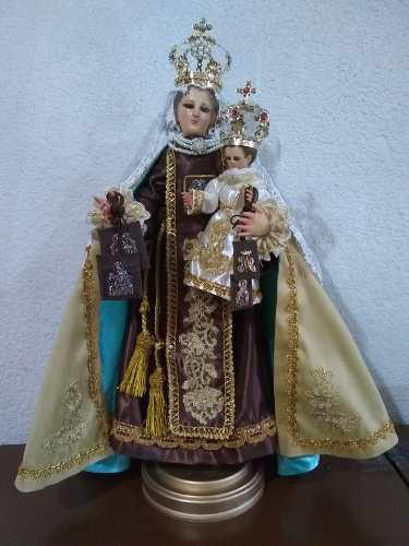Virgen Del Carmen De Madera 54 Cms