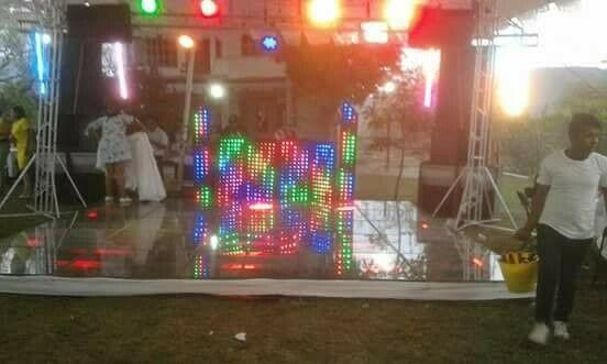 luz y sonido karaoke pista de cristal, profesional varios