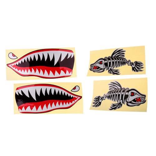 4x Waterproof Funny Stickers Vinyl Decals For Kayak Fishing