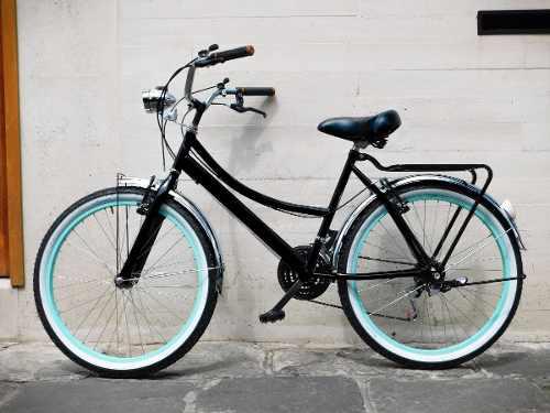 Bicicleta Retro Vintage Con Faro. Personalizada Con Tu
