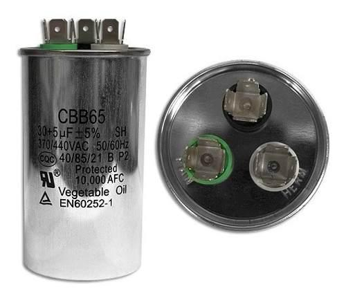 Capacitor Doble 30+5 Mf Para Mini Split Todas Las Marcas