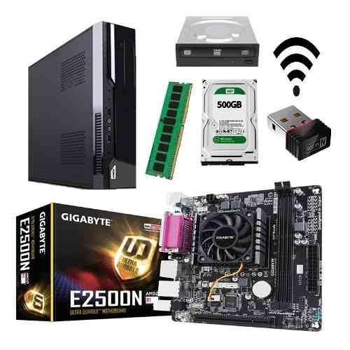 Cpu Nuevo Amd Dual Core 4gb Ram 500gb Hdd Usb 3.1 Hdmi Wifi