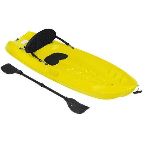 Kayak Para Niños Con Remo Y Respaldo Color Amarillo