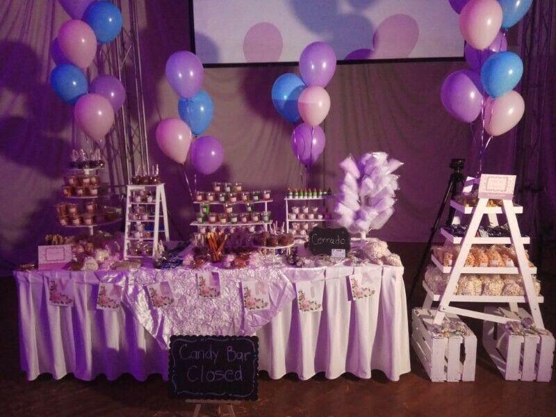Mesa de dulces para 200 personas boda bautizo baby comunion