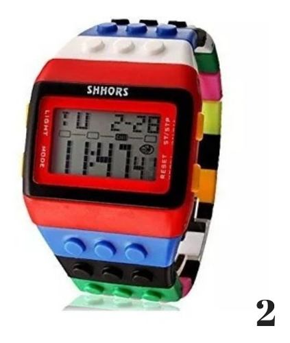 Reloj Shhors, Blocks, Luz Led, Sumergible Agua.