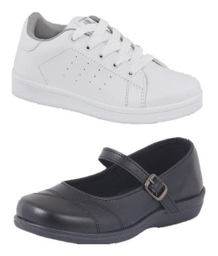 Zapatos Niña Escolares Formal Y Tenis 2 X 1 Cklass Incluye