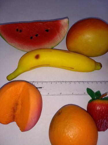 15 Miniatura 100% Real: Pan, Frutas Y Verduras Plástico