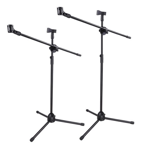 2 Pack Atril Pedestal Para Microfono Doble- Boom Ajustable