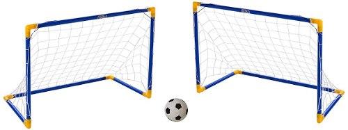 2 Porterías De Futbol Para Niños Infantil Con Balón Y