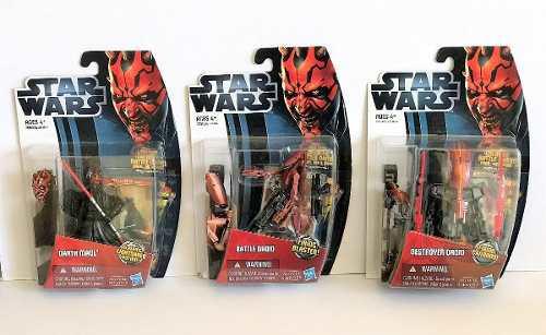 3 Figuras Nuevas Star Wars Hasbro The Phantom Menace 2012