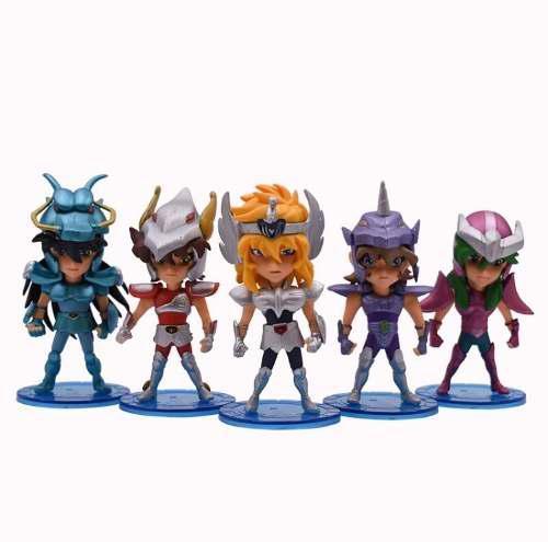5 Figuras De Pvc Saint Seiya Caballeros Del Zodiaco