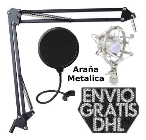 Brazo + Anti Shock Mount Araña + Filtro Anti Pop /