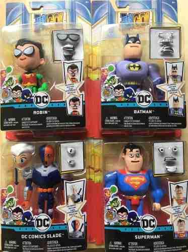 Figuras Teen Titans Go Caras Intercambiables Dc Comics C/u