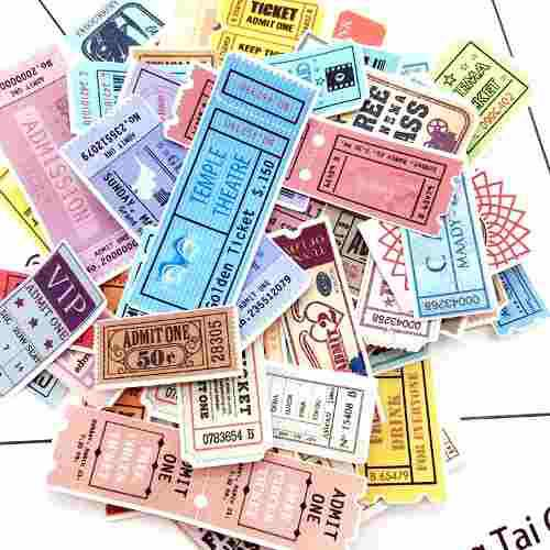 Genial Set 78 Stickers Calcomanias De Mini Tickets Kawaii