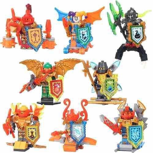 Genial Set Escudos Y Figuras Nexo Knights Envio Gratis