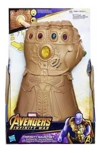 Guantalete Infinito Thanos Guante Luz Y Sonidos Marvel Aveng