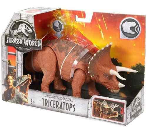 Jurassic World Triceratops Sonido Dinosaurio Mattel 2018