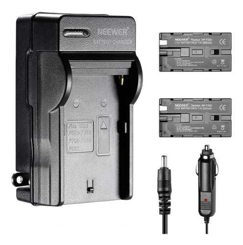 Kit 2 Baterias Np-f550 Y Cargador P/camaras Sony Y Panel Led