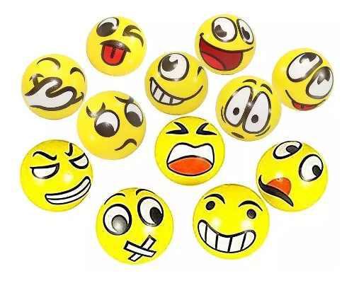 Pack 12 Pelotas Antiestress Emoticon Emojis.y Otros Modelos