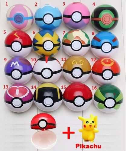 Pokebola 7cm + Pikachu 4-5cm, Pokeball Pokemon Pokebolas