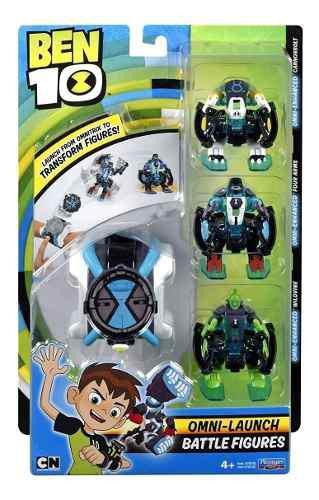 Reloj Ben 10 Omni Launch Lanzador 4 Figuras Azul 2019