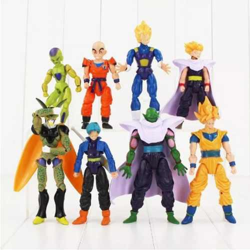 Set De 8 Piezas Dragon Ball, Goku, Vegeta, Envio Gratis