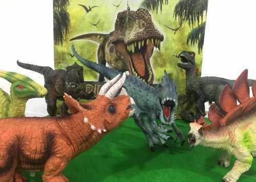 Set Paquete 6 Dinosaurios Realistas De Juguete Con Sonido