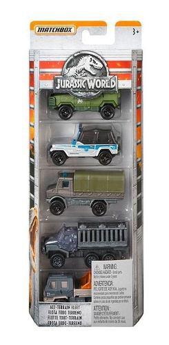 Vehiculos Miniatura Flota Matchbox Jurassic World 5 Pack