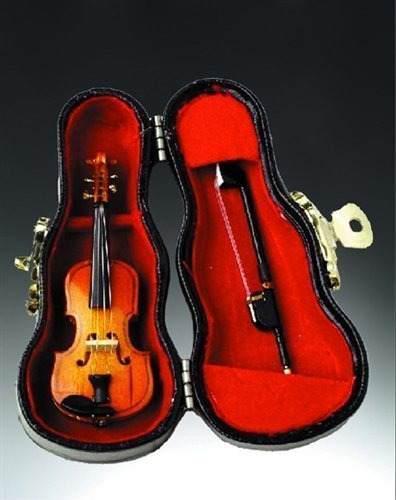 3' Violín De Madera Miniatura Musical Del Instrumento D