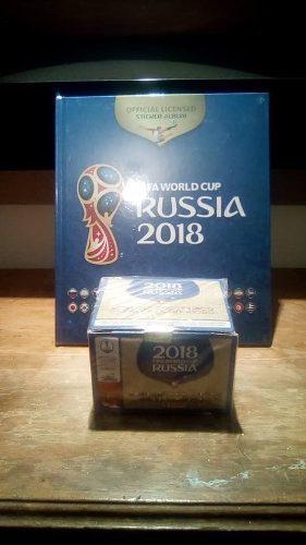 Caja Rusia 2018 100 Sobres + Album Pasta Dura Azul