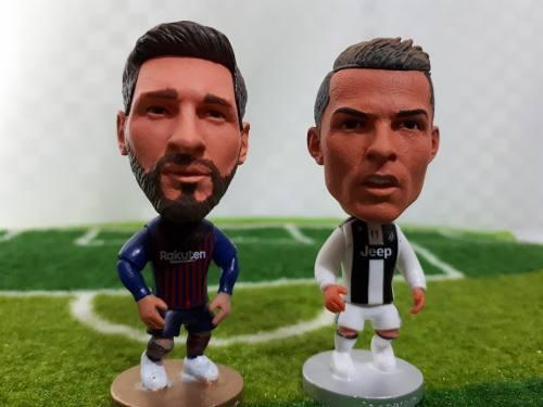 Figura Messi + Cristiano Ronaldo + Champions League Miniatur