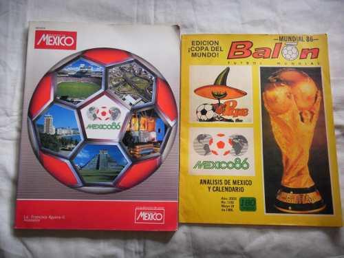 Futbol Mundial Mexico 86 Lote De 2 Revistas De Coleccion