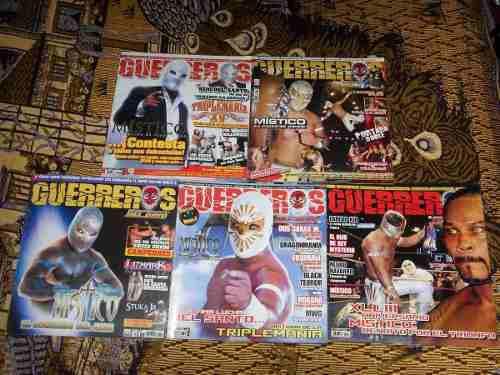 Guerreros Del Ring Mistico Lote De 5 Revistas De Colección