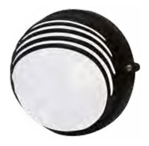 Lámpara Arbotante Luminaria Redondo Negro Ad- Adir