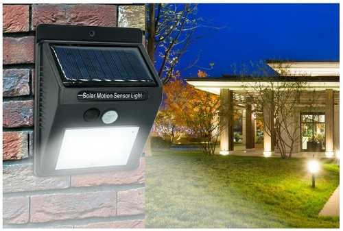 Lámpara Solar 20 Led Sensor De Movimiento Exterior