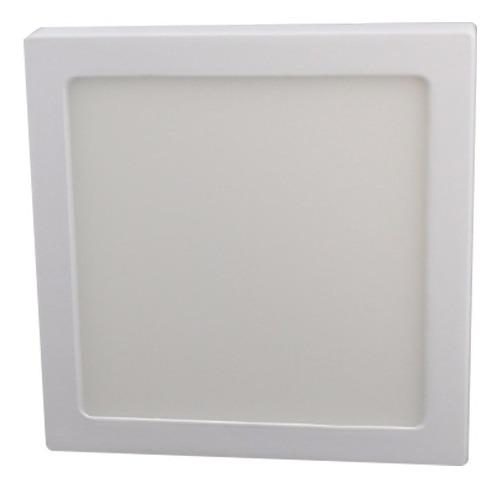 Luminario Led Sobreponer -b Cuadrado Luz Blanca 6w Adir