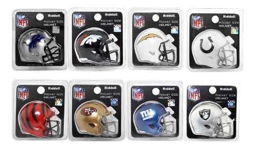 Nfl Pocket Helmet Varios Equipos