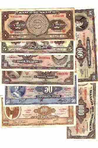 Serie De Billetes Completa Desde Un Peso Hasta