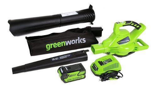 Sopladora Aspiradora Inalámbrica Batería Greenworks Msi
