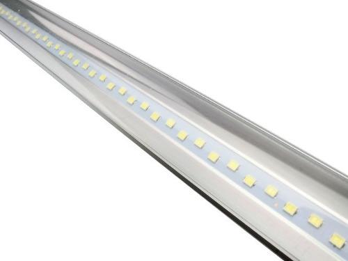 Tubo Lampara Doble Tira Led 20w Canaleta Aluminio Regleta