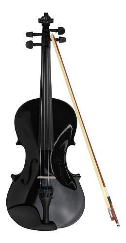 Violin Musical 4-4 Con Estuche Y Accesorios Color Negro