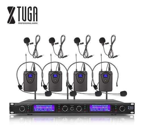 Xtuga Ew240 Inalámbrico Micrófono Audio Diadema Solapa