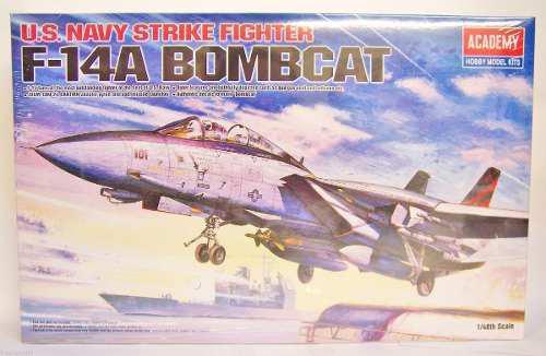 Academia 1/48 Us Navy Strike Fighter F-14a Tomcat Bombcat