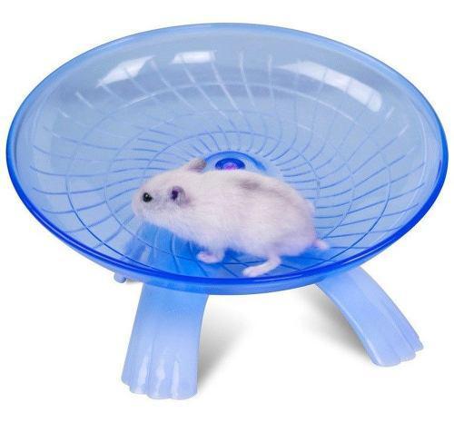 Disco Rueda De Ejercicio Juguete Para Hamster Azul Q1027